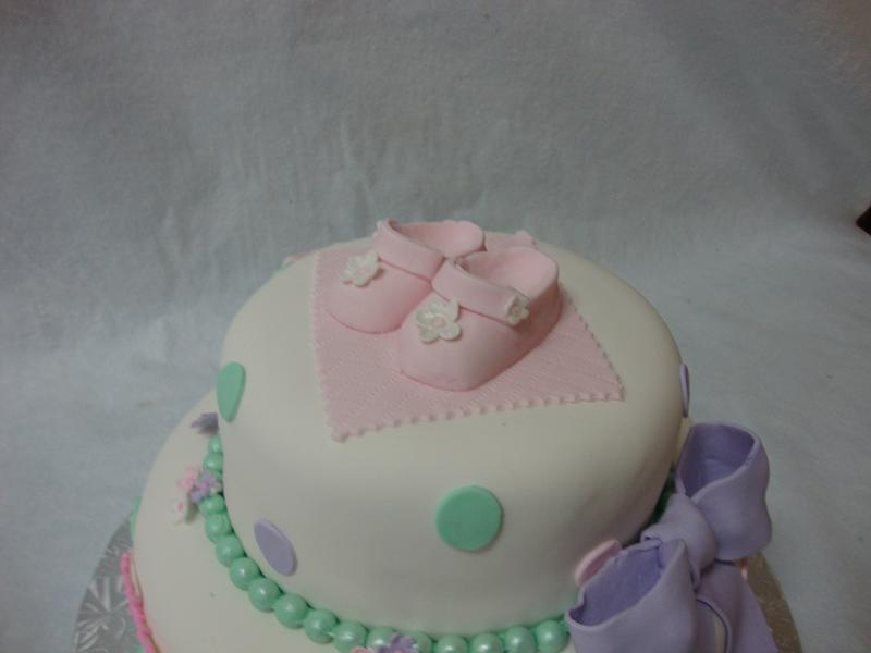 Sugar & Spice Fondant Baby Shower Cake