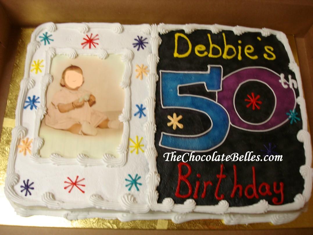 50th Photo Birthday Cake
