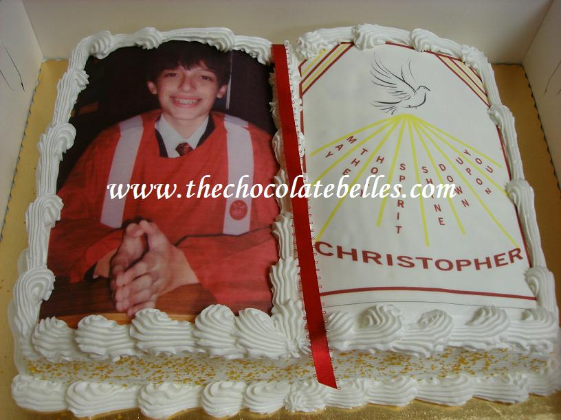 Confirmation Photo Bible Cake