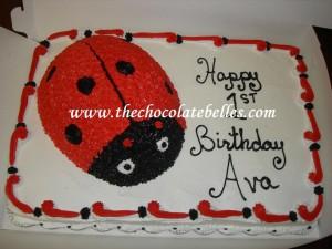 Excellent Lady Bug 1St Birthday Cake Birthday Cards Printable Giouspongecafe Filternl