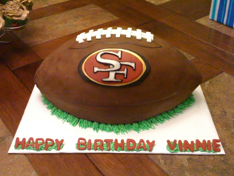 Images Of Football Cakes. Football Cake by Karalyn