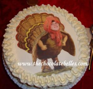 Personalized Turkey Birthday Cake