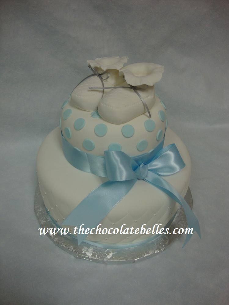 fondant christening cakes