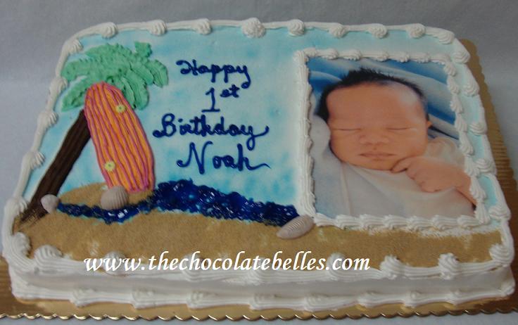 Pleasant Beach Theme Babies 1St Birthday Cake Funny Birthday Cards Online Overcheapnameinfo