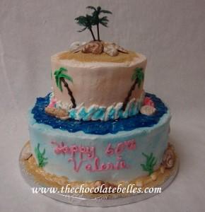 tropical birthday cake