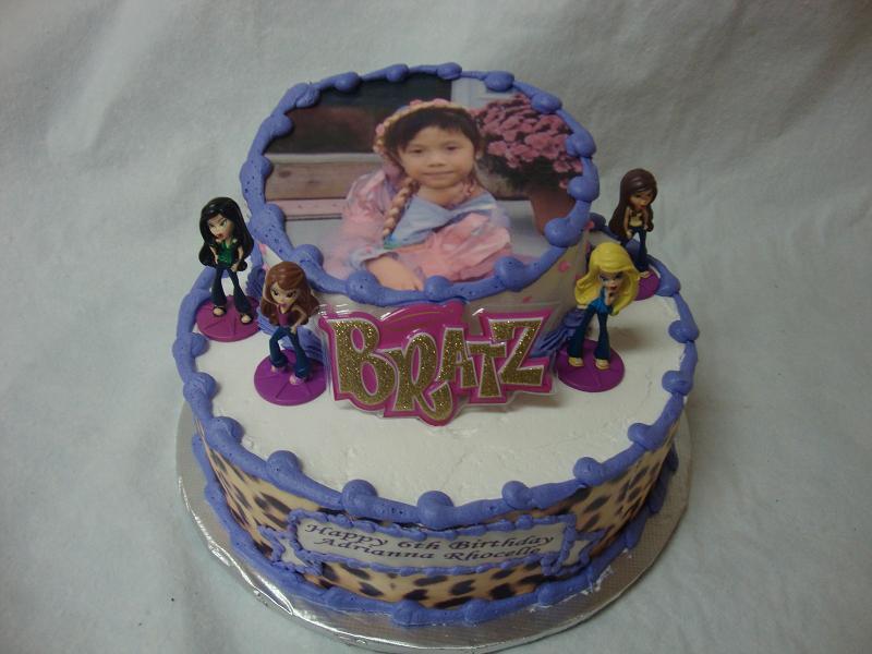 Peachy Bratz Birthday Cake Personalised Birthday Cards Akebfashionlily Jamesorg