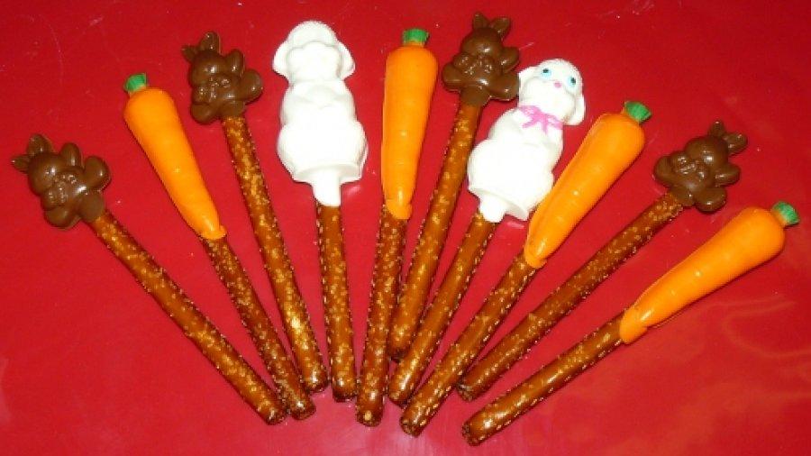 Pretzel Lollipops
