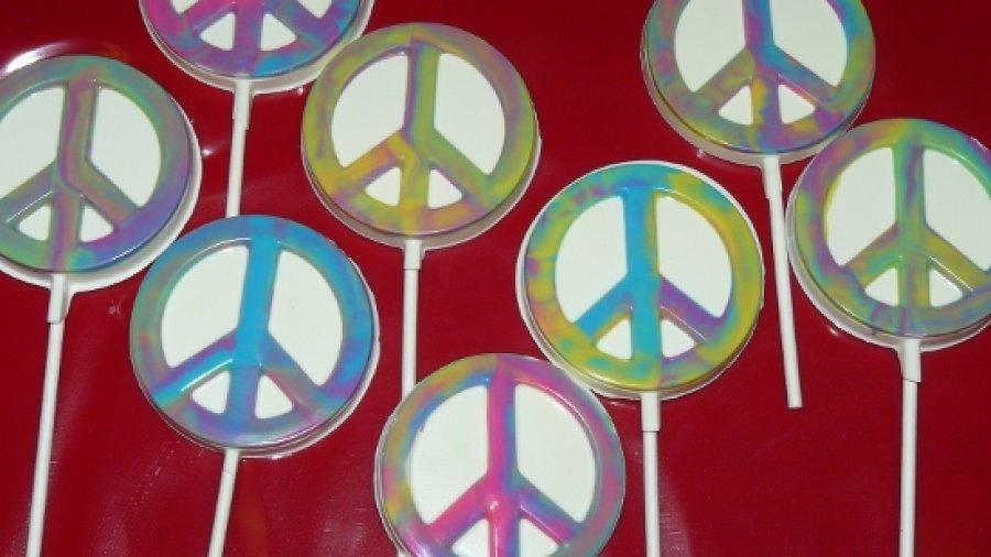 Peace Sign Lollipops