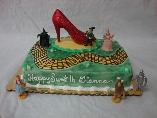 Prime Wizard Of Oz Sweet 16 Birthday Cake Birthday Cards Printable Riciscafe Filternl