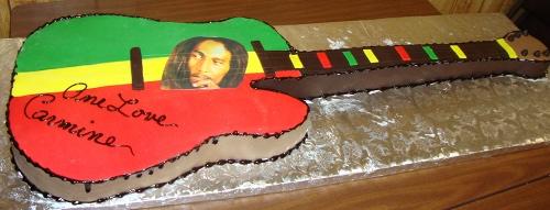 Jamaican Theme Life Size Guitar Cake