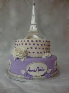 Stupendous Eiffel Tower Sweet 16 Birthday Cake Birthday Cards Printable Giouspongecafe Filternl