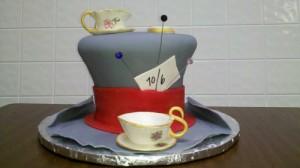 fondant mad hatter cake